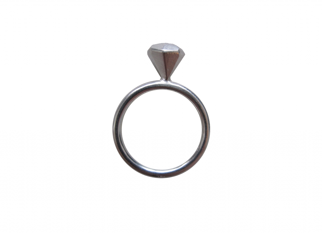 'diamond'-Ring klein