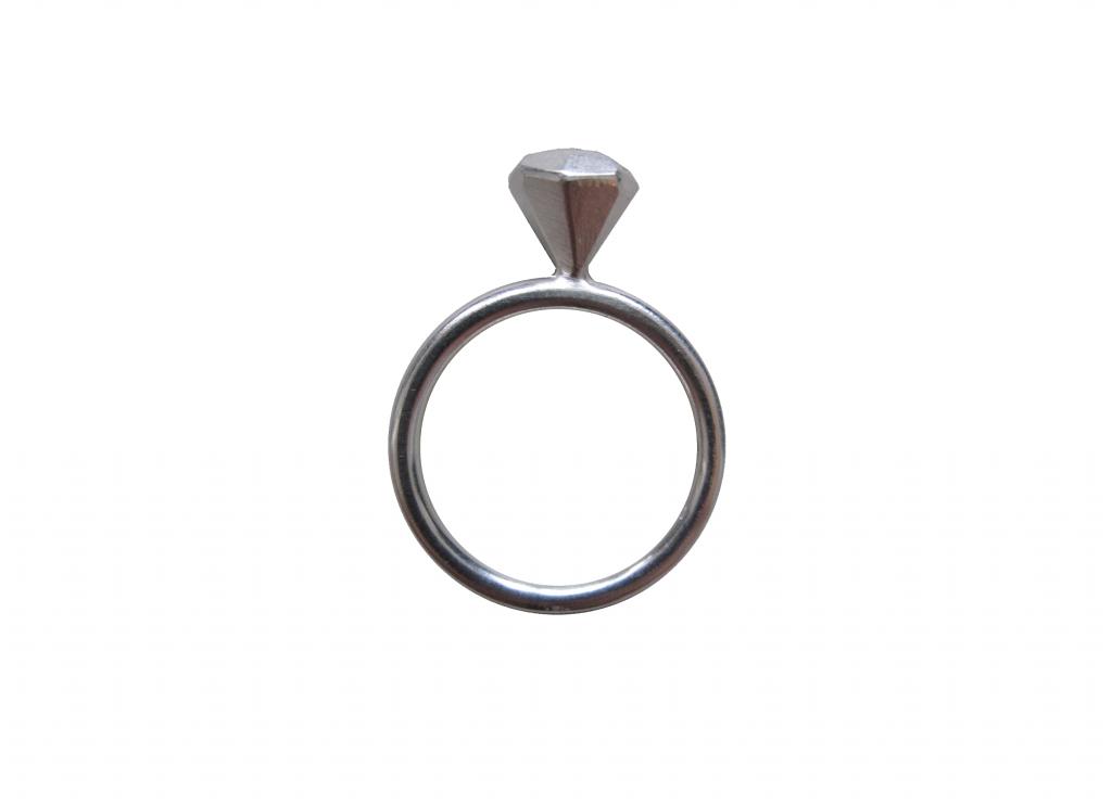 'diamond'-Ring klein